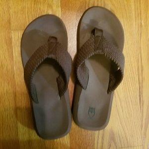Brown Basic Flip Flops Brand New